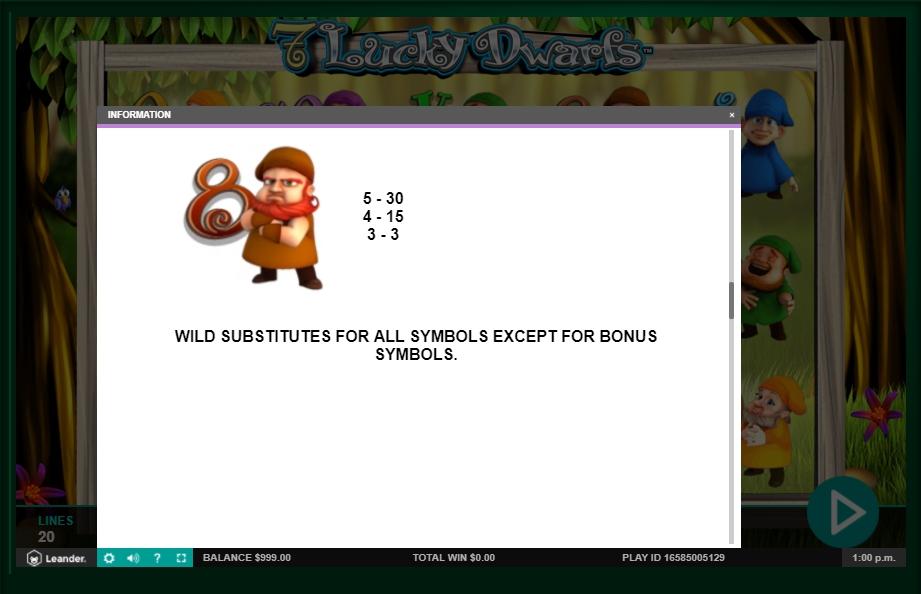 7 lucky dwarfs slot machine detail image 4