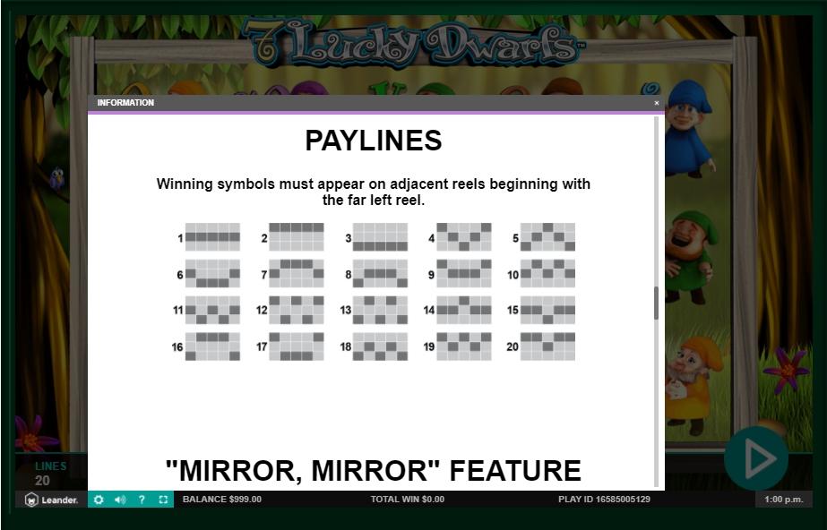 7 lucky dwarfs slot machine detail image 3