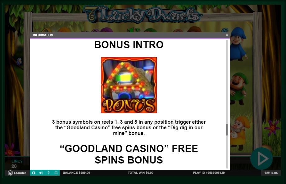 7 lucky dwarfs slot machine detail image 1