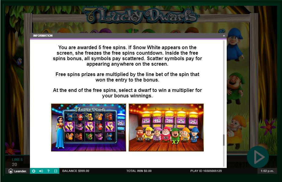 7 lucky dwarfs slot machine detail image 0