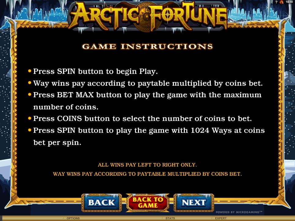 arctic fortune slot machine detail image 0