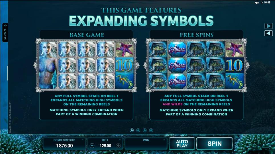 ariana slot machine detail image 3