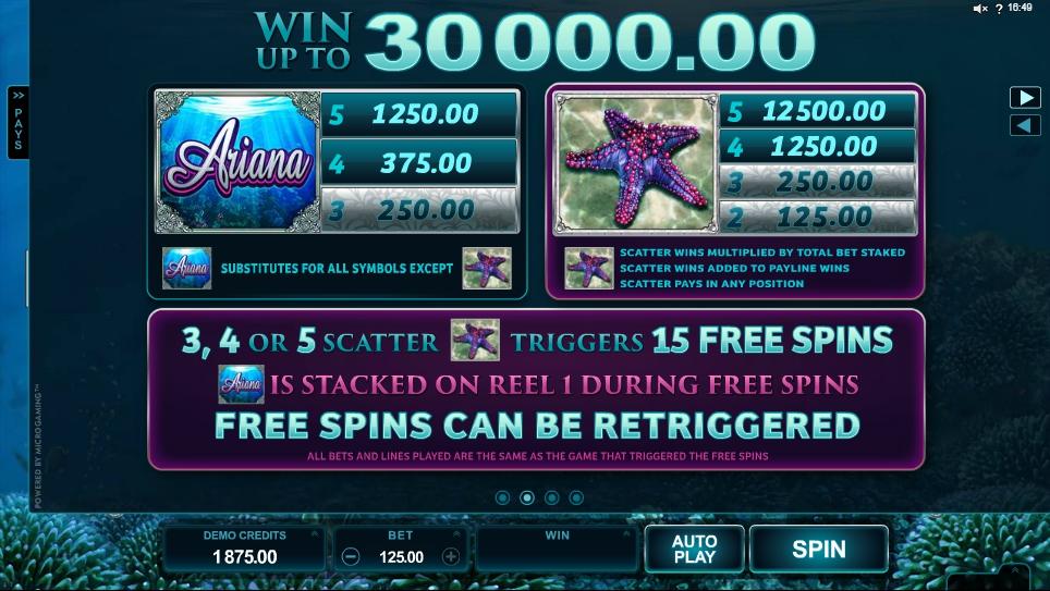 ariana slot machine detail image 2
