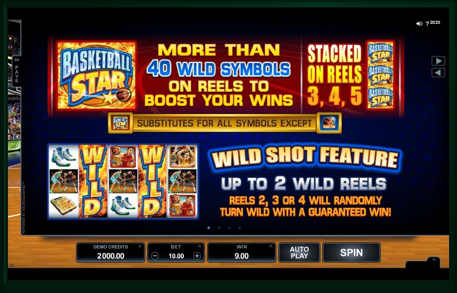 basketball star slot machine detail image 3