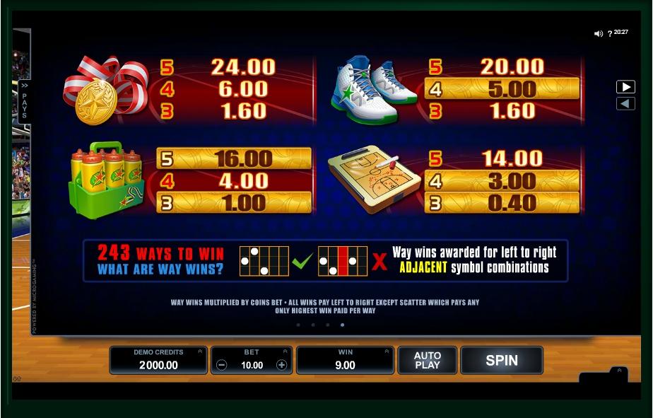 basketball star slot machine detail image 0