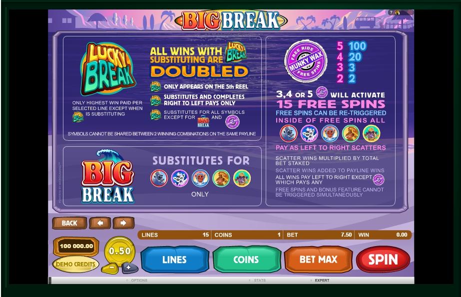 big break slot machine detail image 3