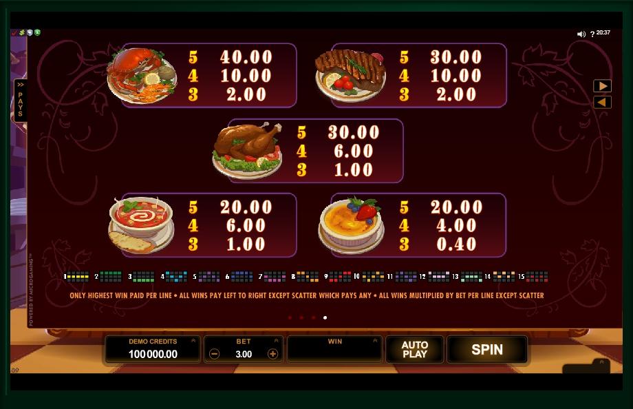 big chef slot machine detail image 0