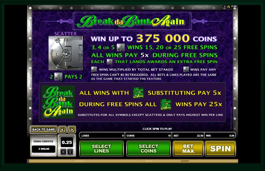 break da bank again slot slot machine detail image 2