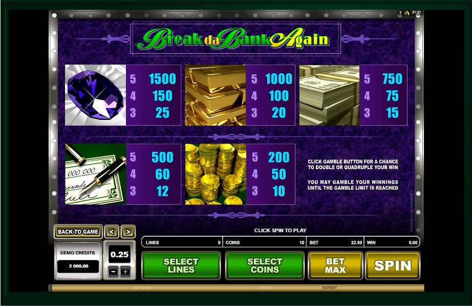 break da bank again slot slot machine detail image 1