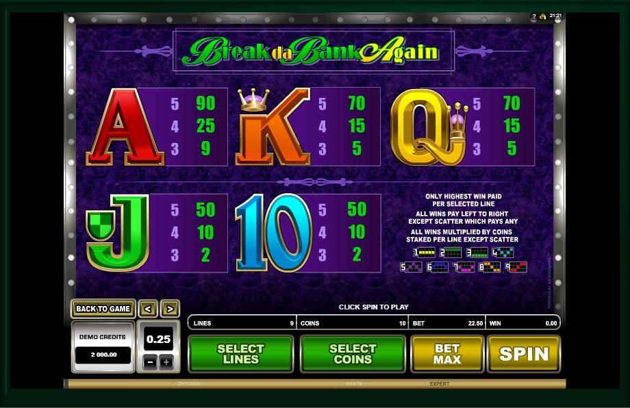 break da bank again slot slot machine detail image 0