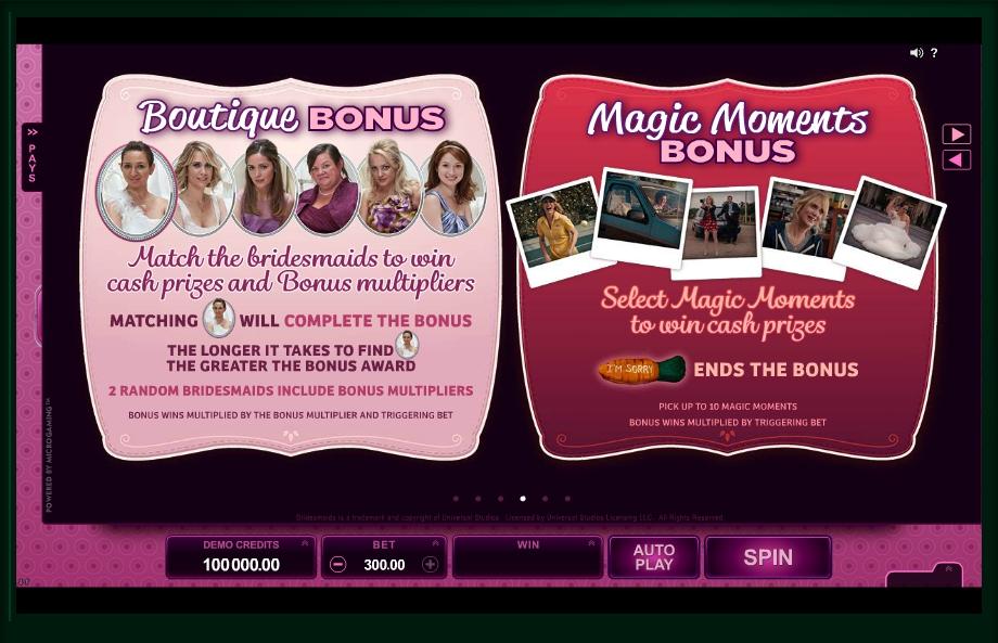 bridesmaids slot machine detail image 3