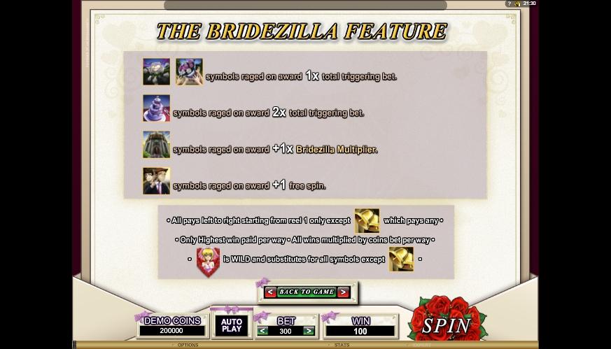 bridezilla slot machine detail image 3