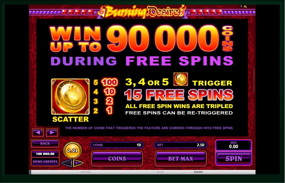 burning desire slot machine detail image 3