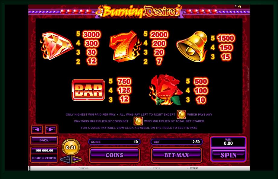 burning desire slot machine detail image 1