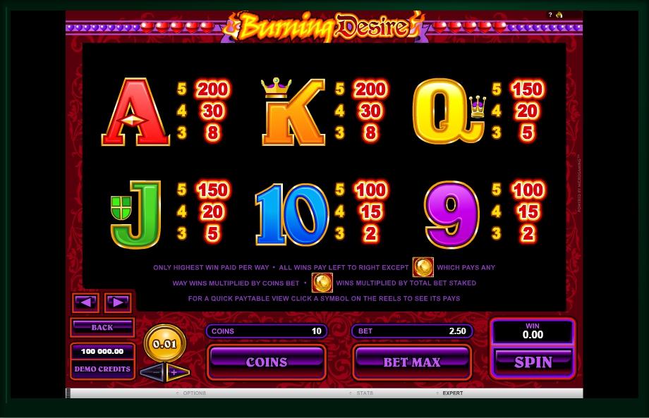 burning desire slot machine detail image 0