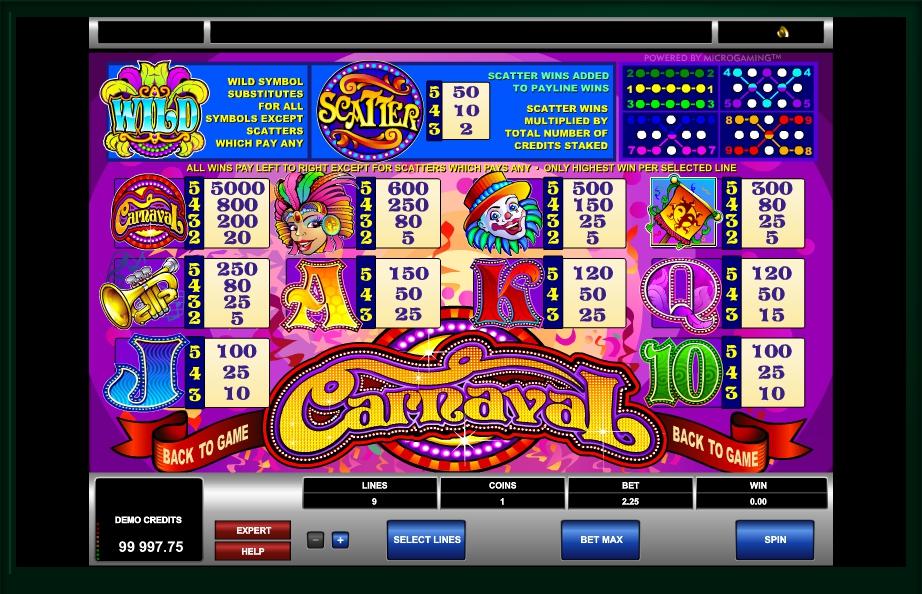carnaval slot machine detail image 0