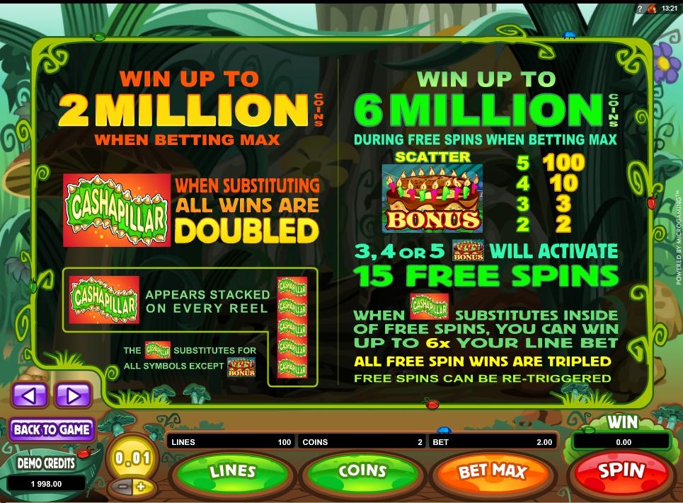 cashapillar slot machine detail image 3