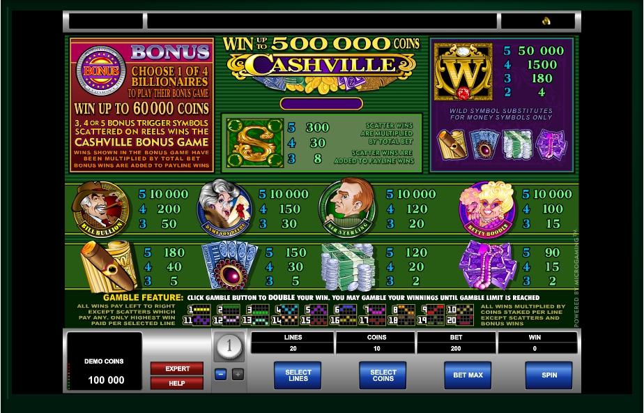 cashville slot machine detail image 0