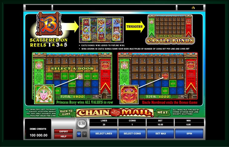 chain mail slot machine detail image 0