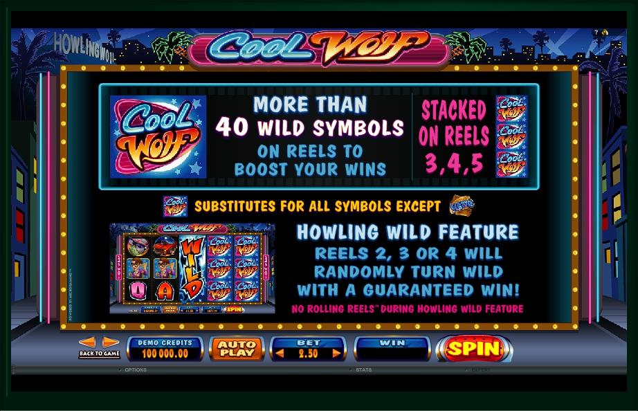 cool wolf slot machine detail image 3