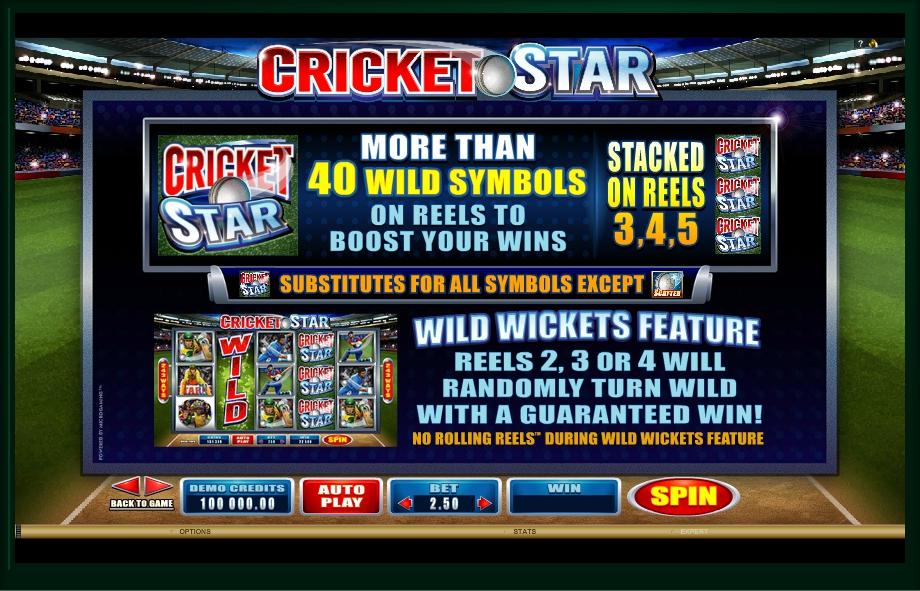 cricket star slot machine detail image 3