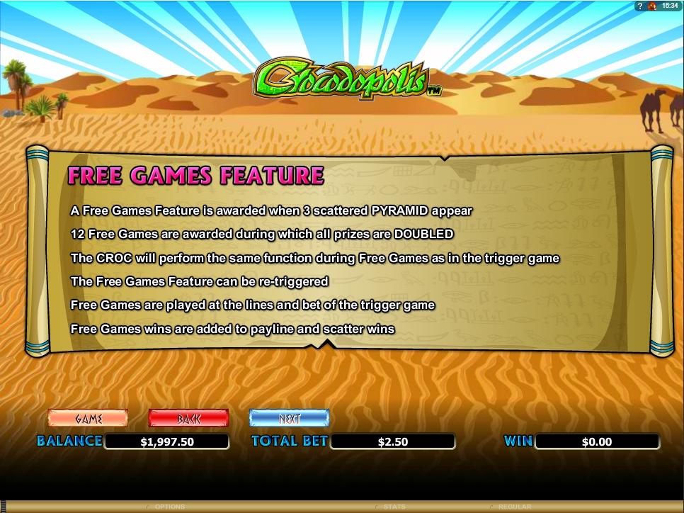 crocodopolis slot machine detail image 3