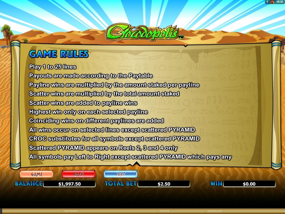 crocodopolis slot machine detail image 2