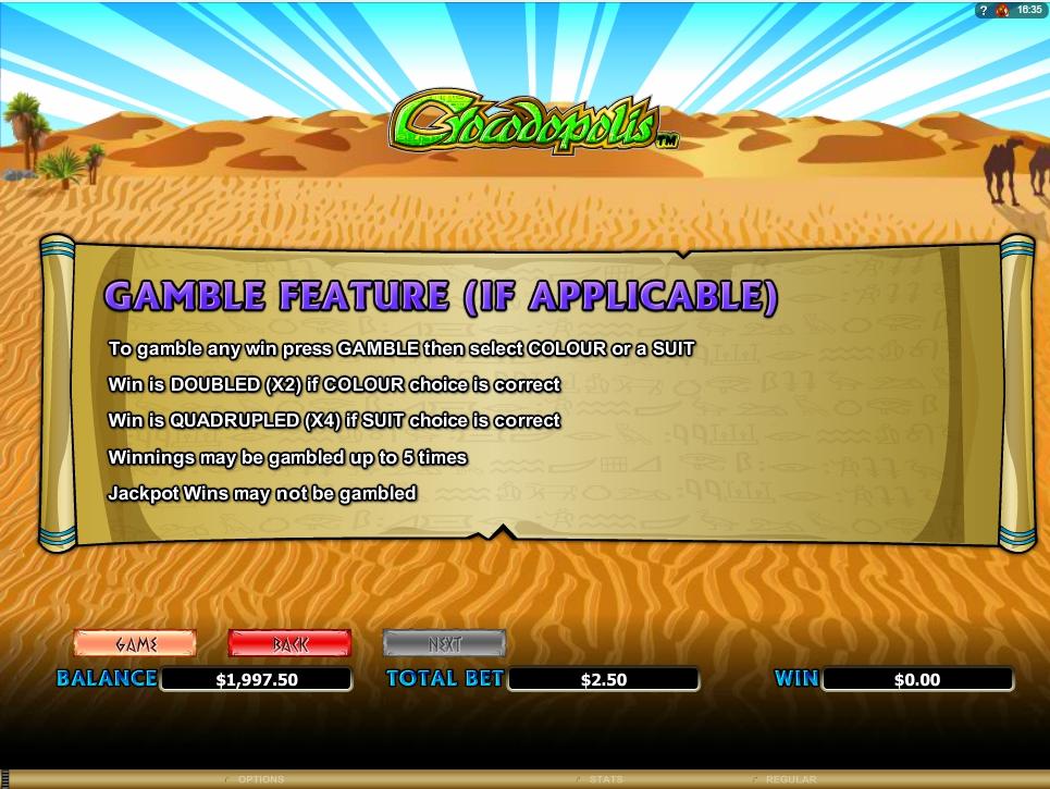 crocodopolis slot machine detail image 0