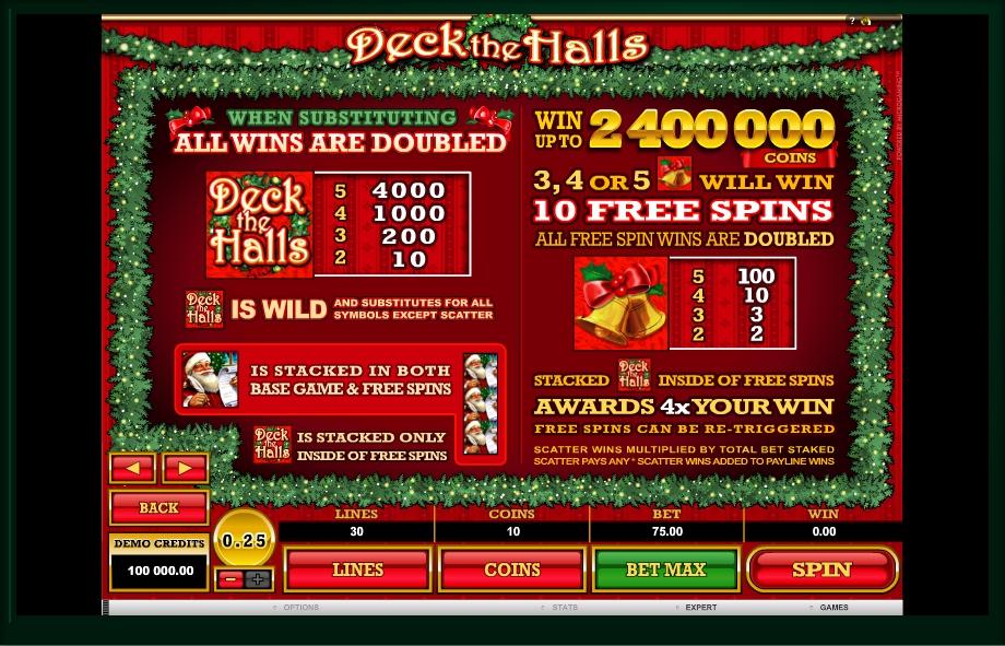 deck the halls slot machine detail image 2