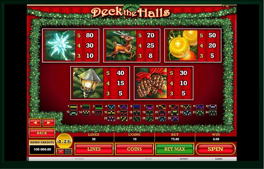 deck the halls slot machine detail image 0