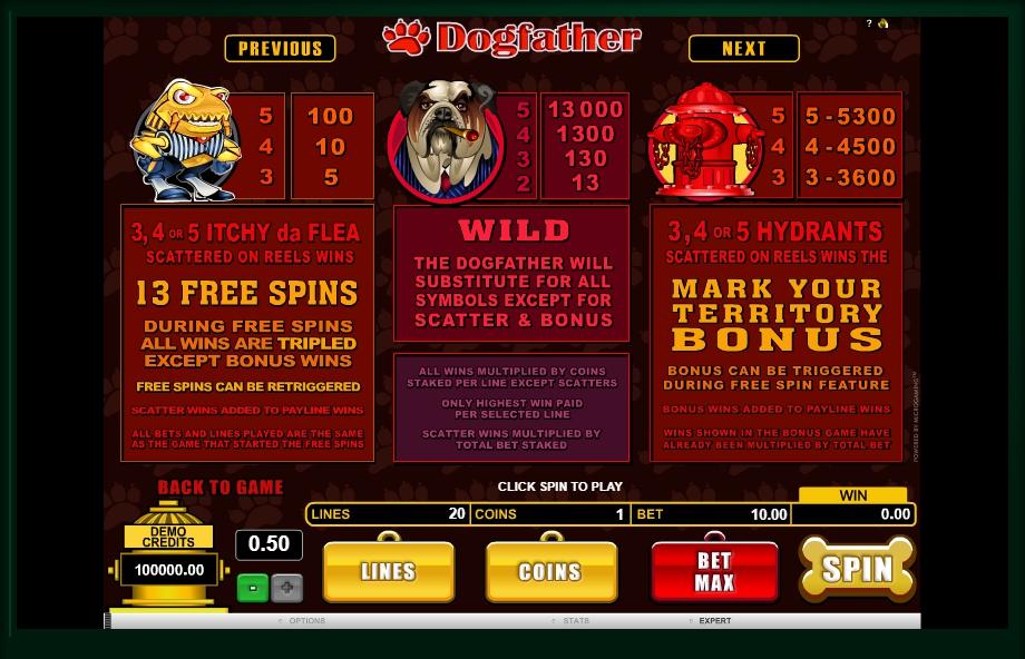 dogfather slot machine detail image 1