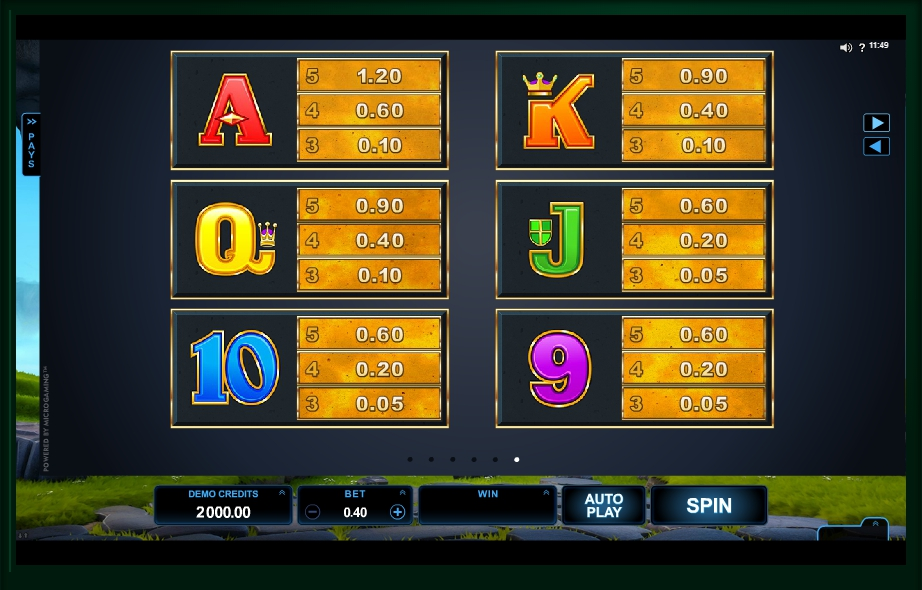 dragonz slot machine detail image 0