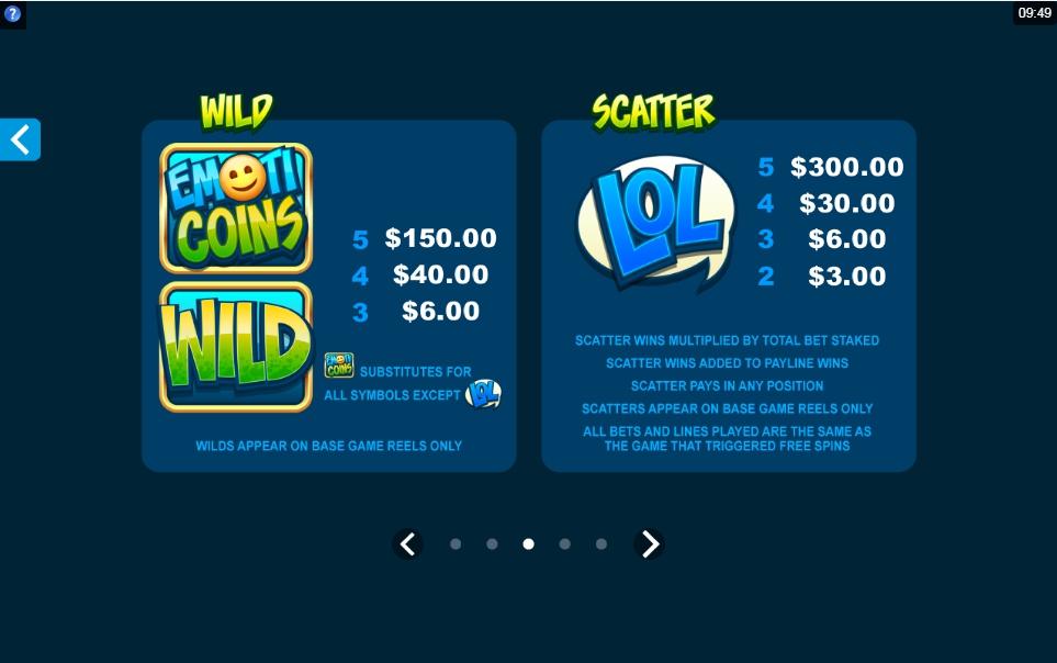 emoticoins slot machine detail image 2