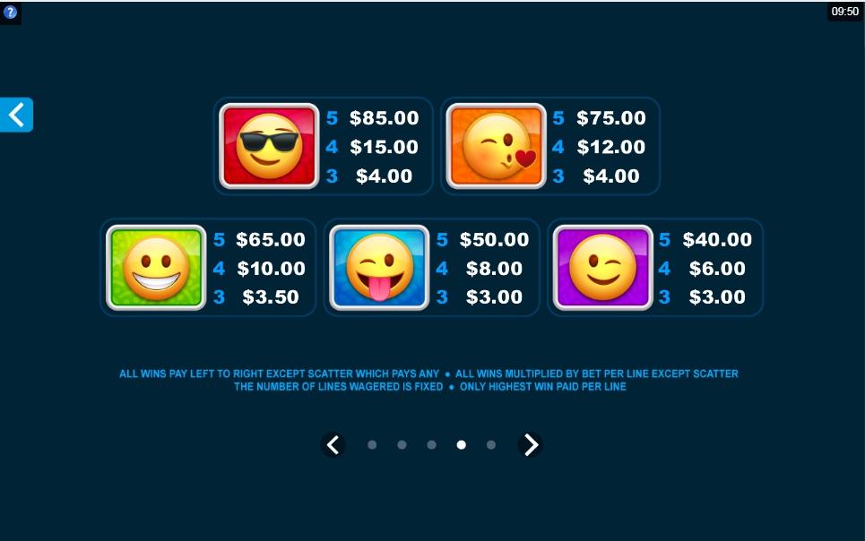 emoticoins slot machine detail image 1