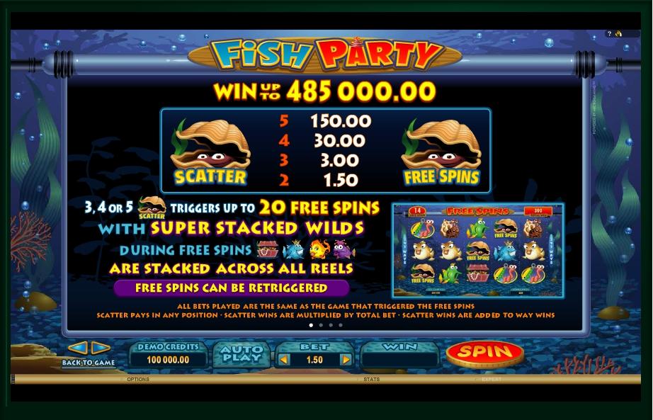fish party slot machine detail image 3