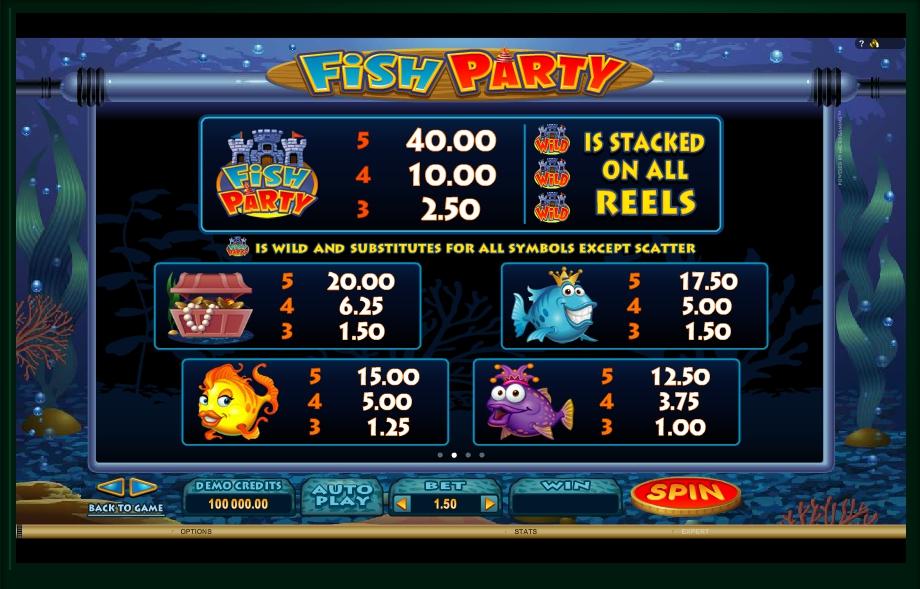 fish party slot machine detail image 2