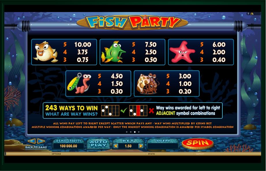 fish party slot machine detail image 1