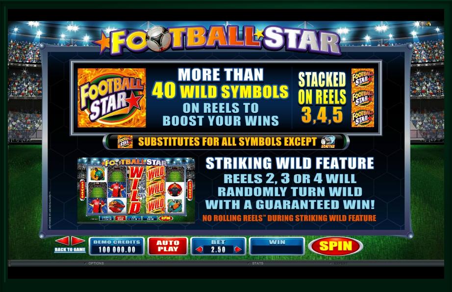 football star slot machine detail image 3