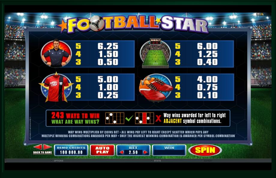 football star slot machine detail image 0