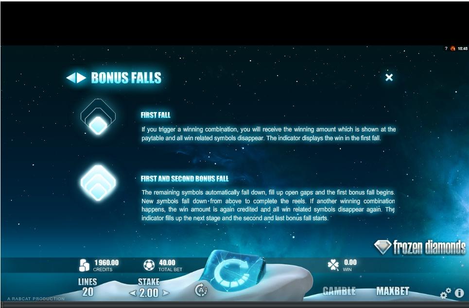 frozen diamonds slot machine detail image 2