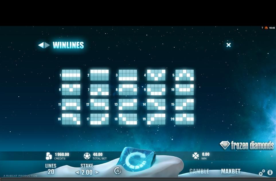frozen diamonds slot machine detail image 0