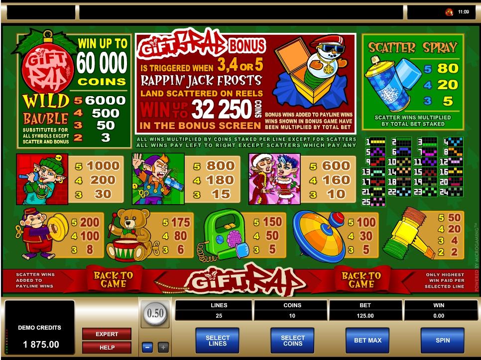 gift rap slot machine detail image 0