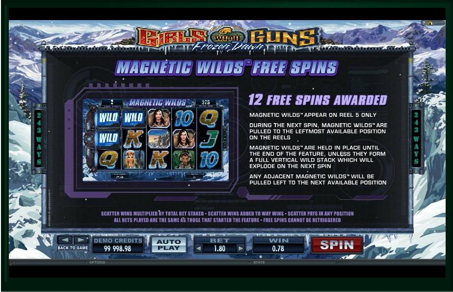girls with guns frozen dawn slot machine detail image 4