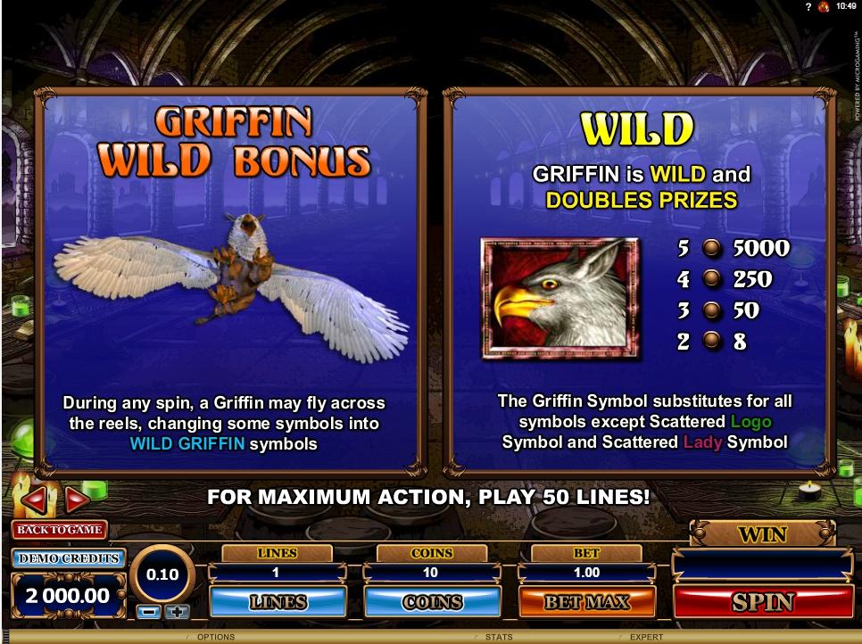 great griffin slot machine detail image 5