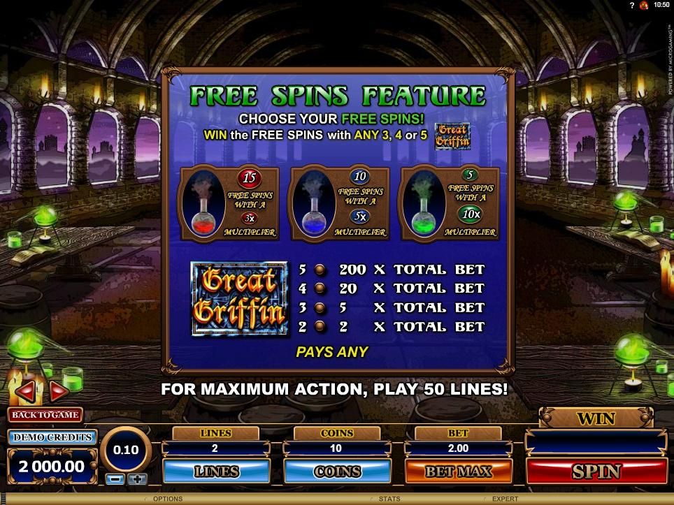 great griffin slot machine detail image 4