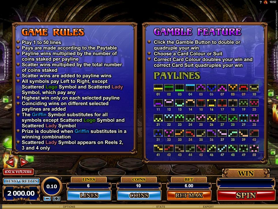 great griffin slot machine detail image 0