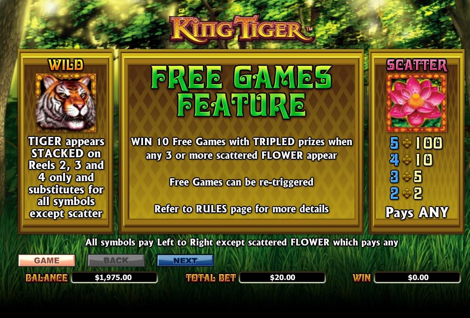 king tiger slot machine detail image 5