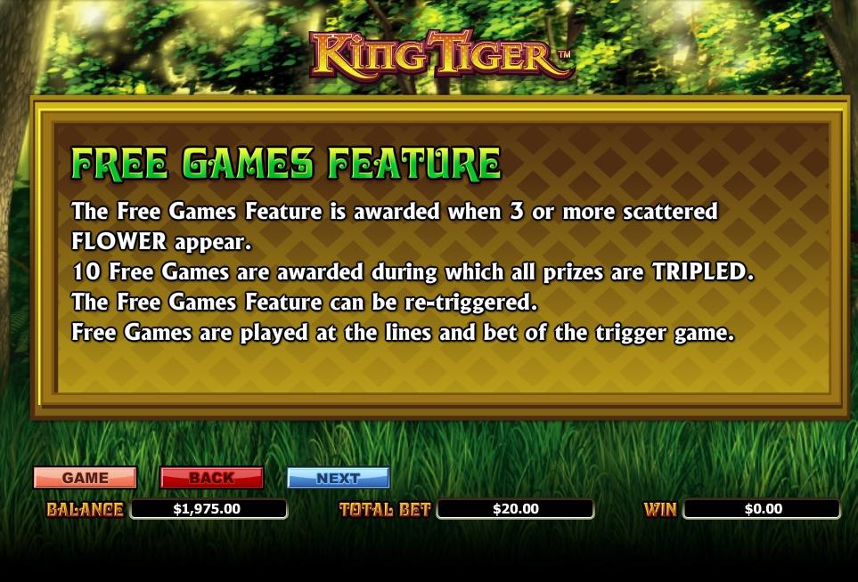 king tiger slot machine detail image 3
