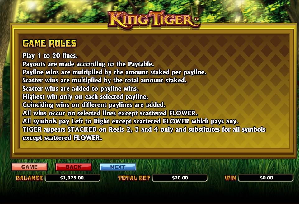 king tiger slot machine detail image 2