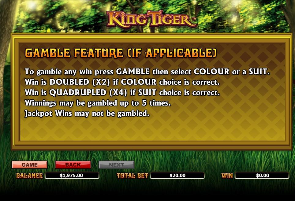 king tiger slot machine detail image 0
